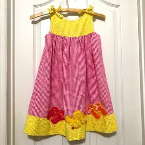 Rare Editions summer dress with button/bow 6